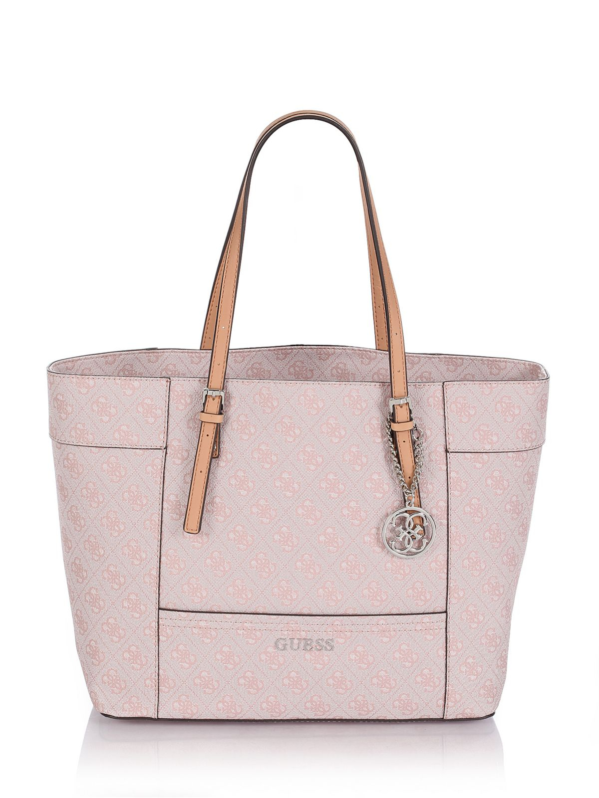 Guess Delaney Medium Classic Tote Logo Bag in Pink | Lyst