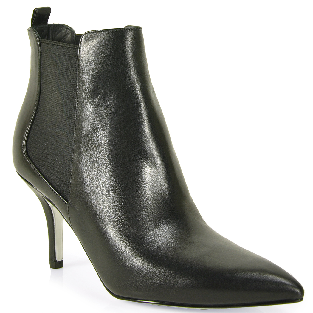 michael michael kors leather bootie in black lyst