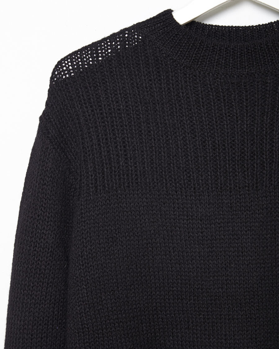 toile isabel marant loris slouchy pullover in black lyst. Black Bedroom Furniture Sets. Home Design Ideas