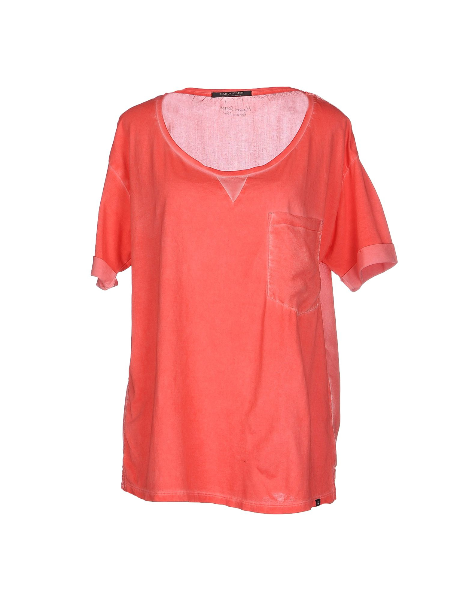 maison scotch t shirt in pink lyst