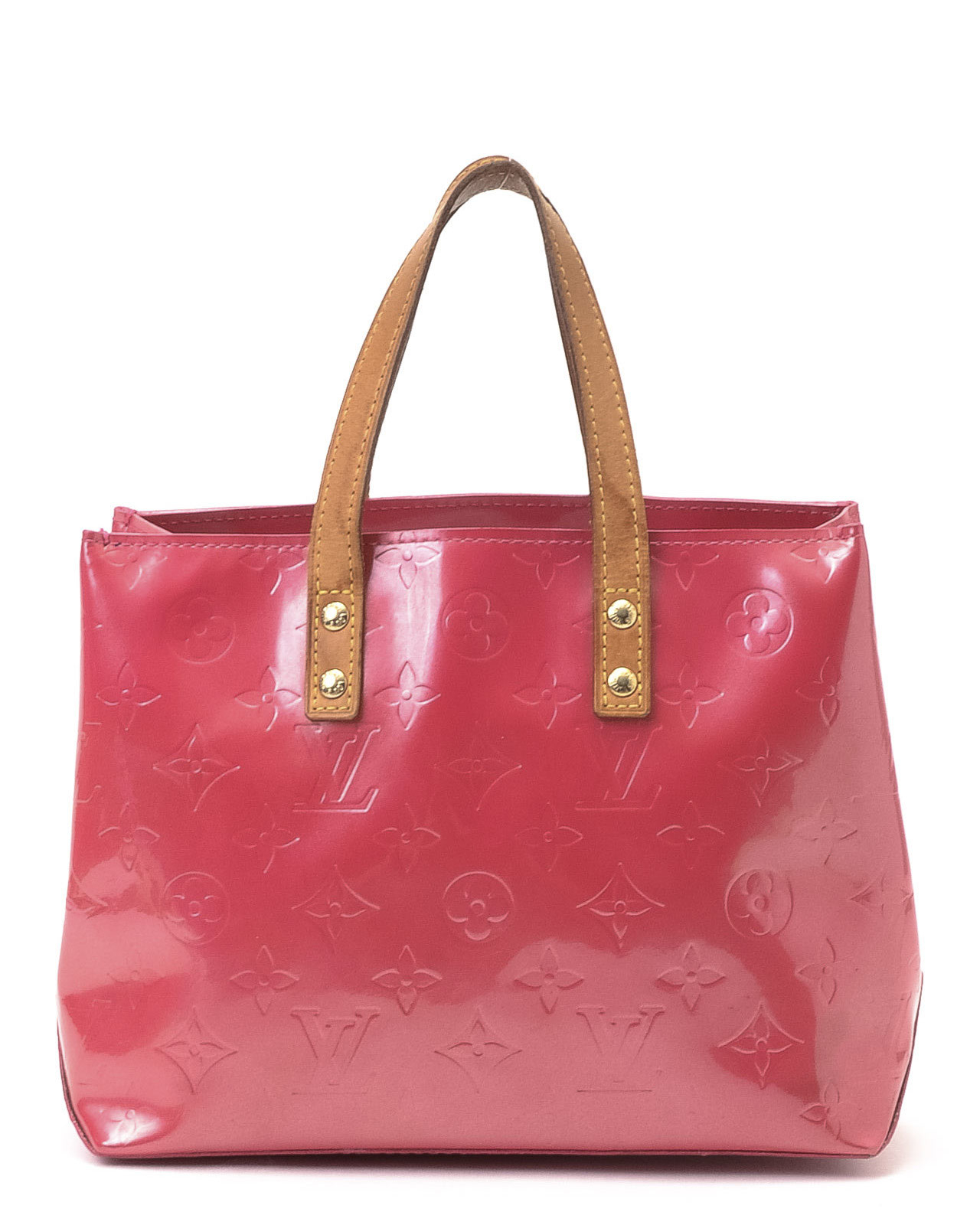 51601838783e Lyst - Louis Vuitton Pink Patent Leather Tote in Red