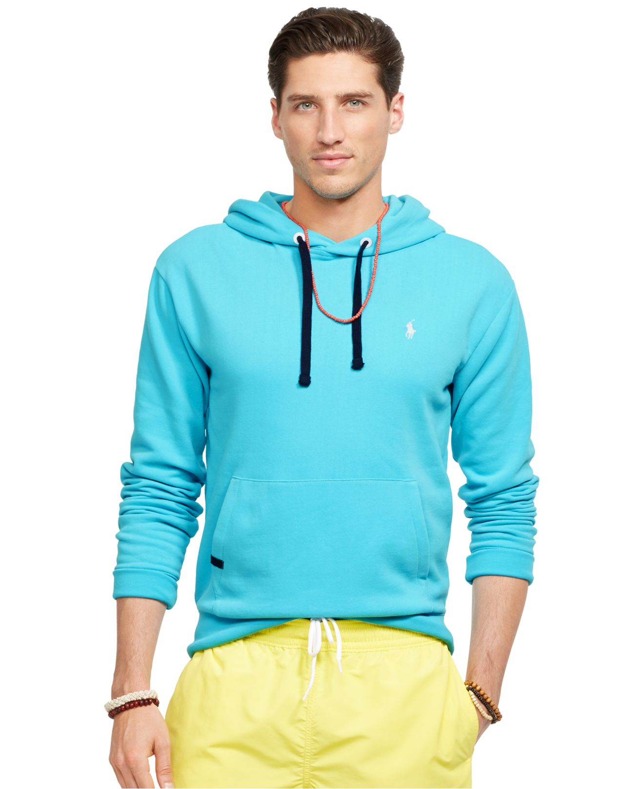 polo ralph lauren performance fleece hoodie in blue for men lyst. Black Bedroom Furniture Sets. Home Design Ideas