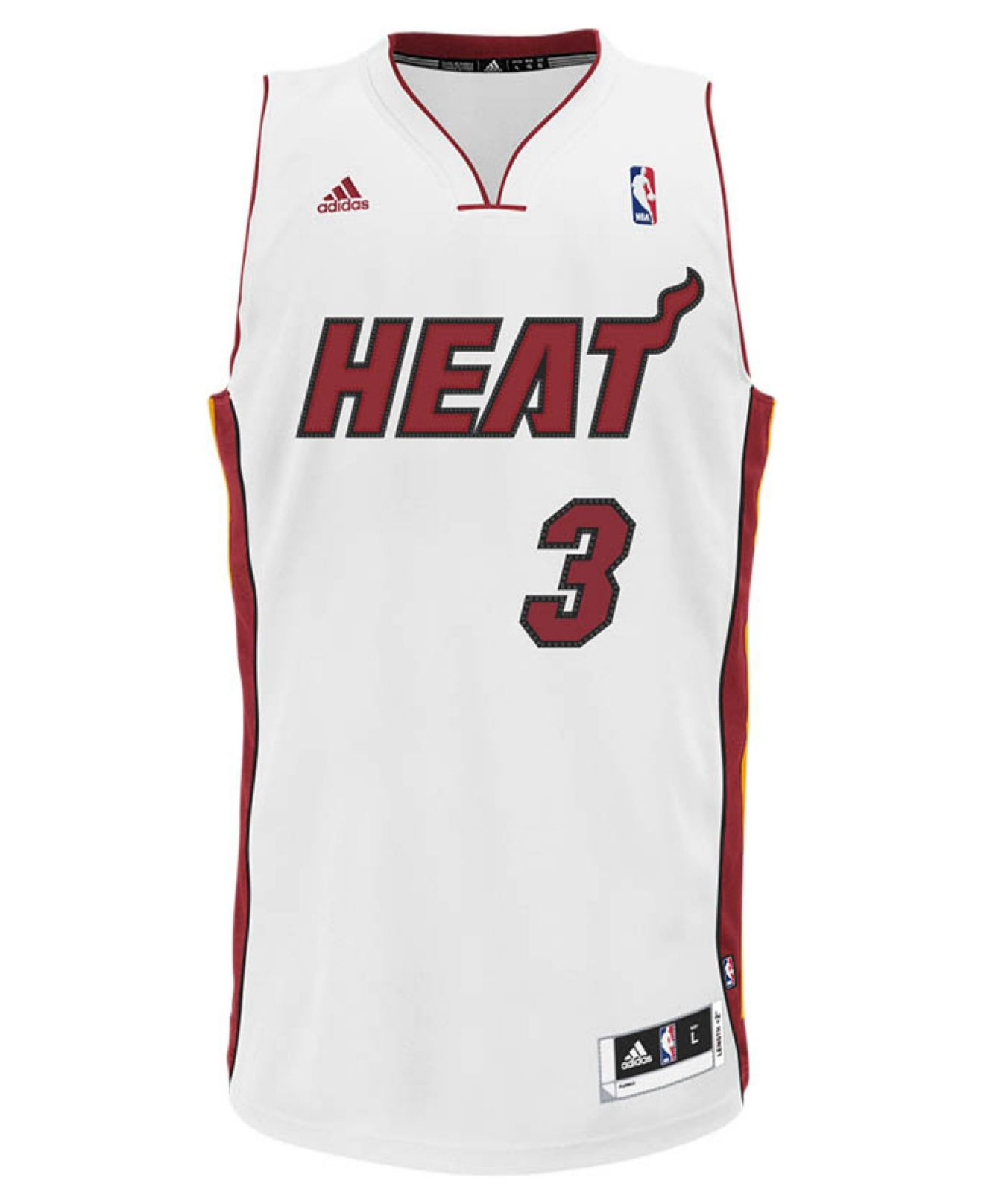 8d1142b2881 adidas Originals Men s Miami Heat Dwyane Wade Jersey in White for ...
