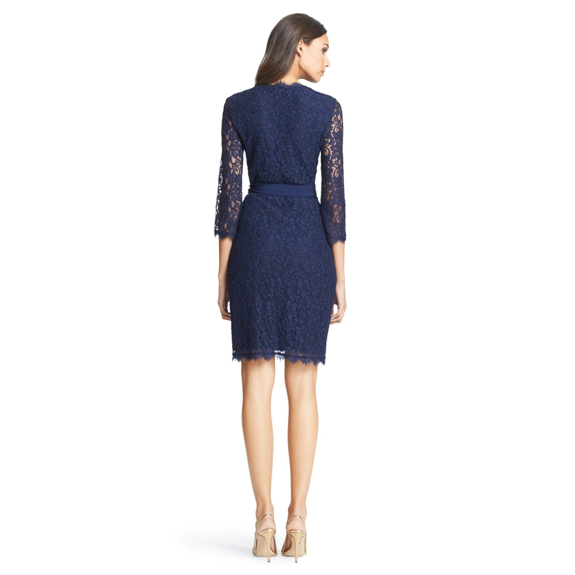 Lyst diane von furstenberg dvf julianna lace wrap dress for Diane von furstenberg clothes