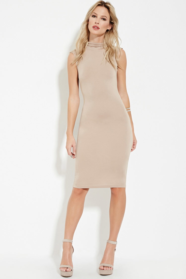 Lyst - Forever 21 Mock-neck Bodycon Dress You\'ve Been Added To The ...