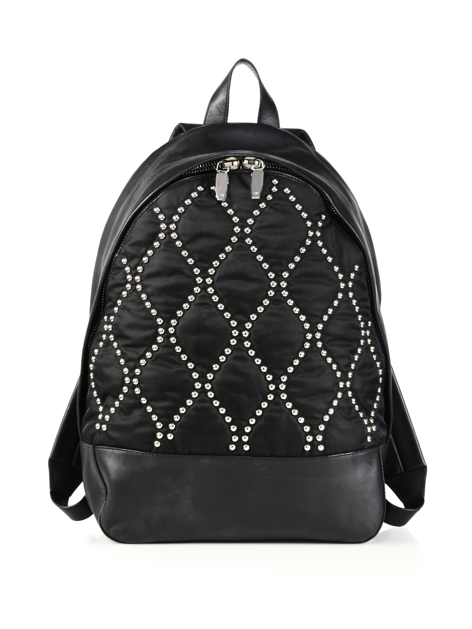 Alexander wang Runway Stud Quilted Nylon & Leather Backpack in ...
