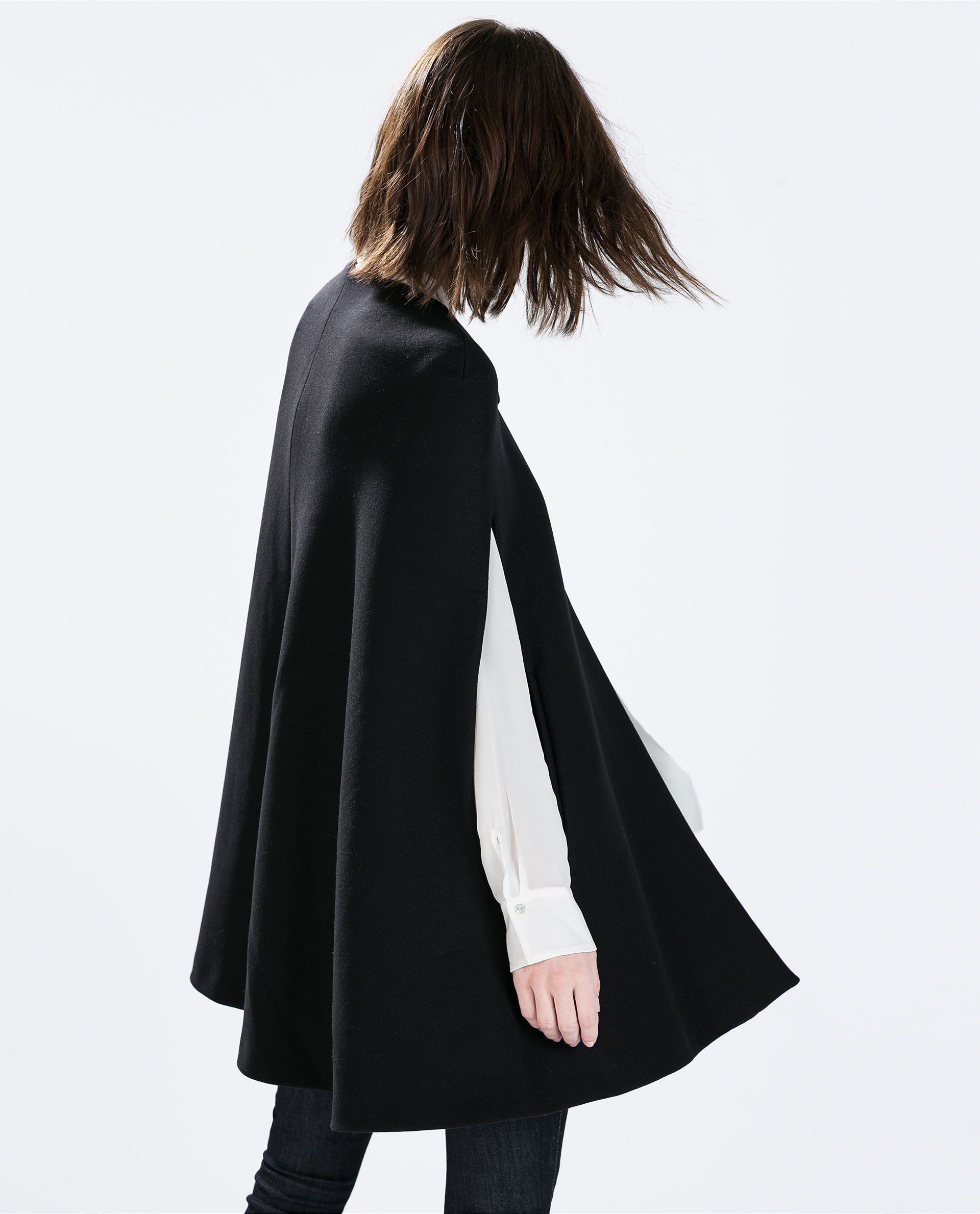 Topshop cape coat