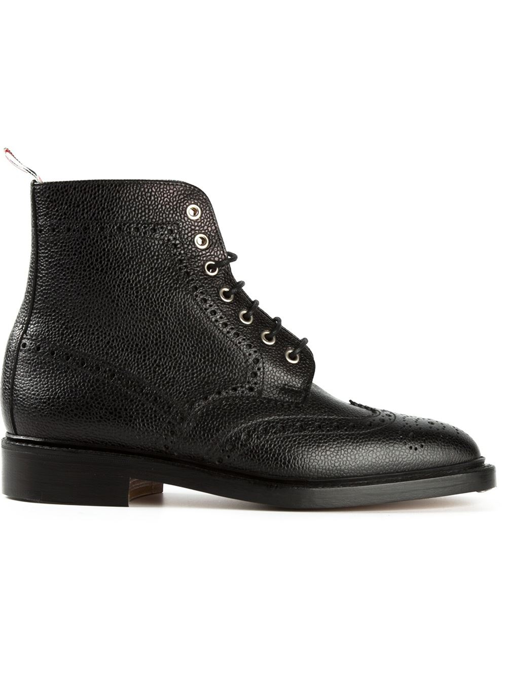 thom browne brogue boots in black for lyst
