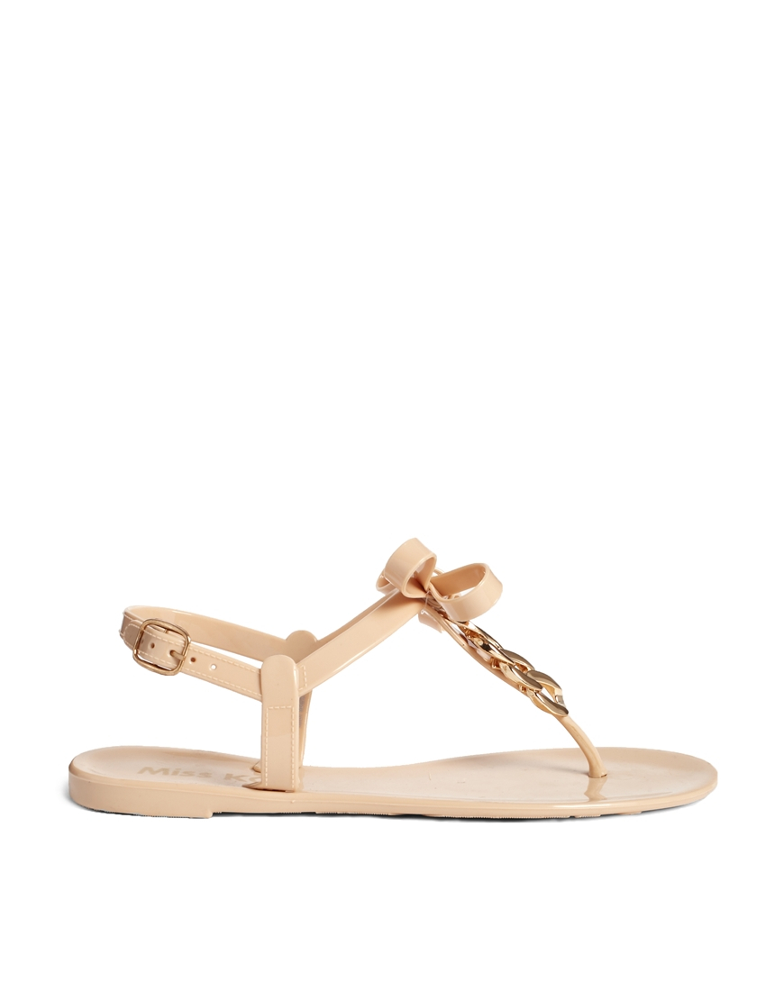Miss Kg Dolly Nude Jelly Sandals in Natural - Lyst