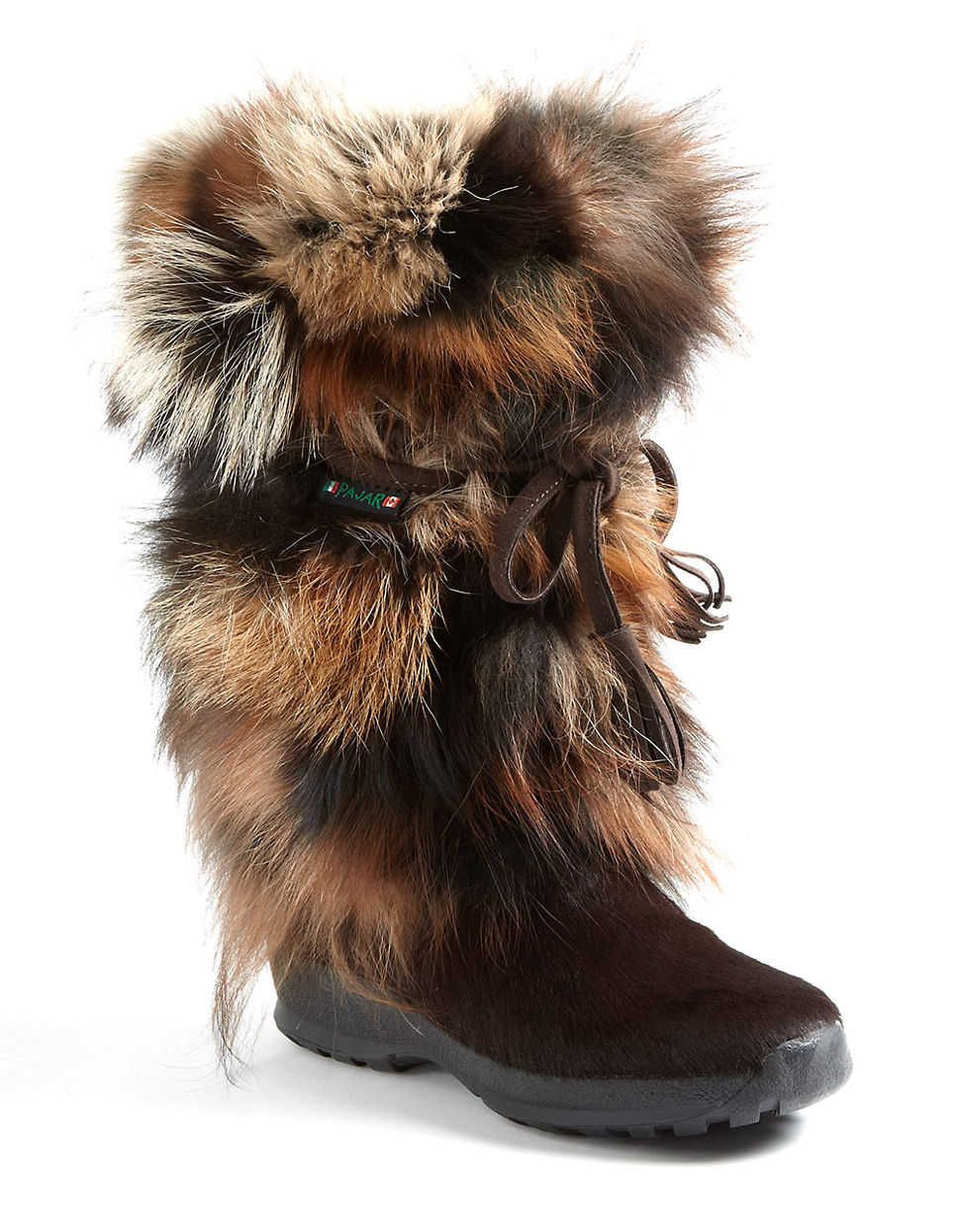 Pajar \'fox Trot\' Genuine Fox Fur & Calf Hair Boot in Brown   Lyst
