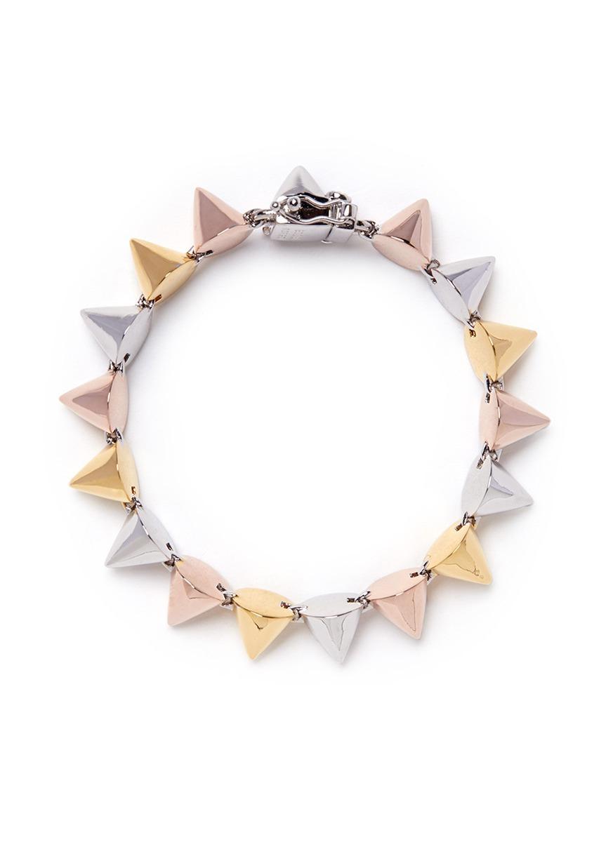 eddie borgo small cone bracelet in metallic lyst
