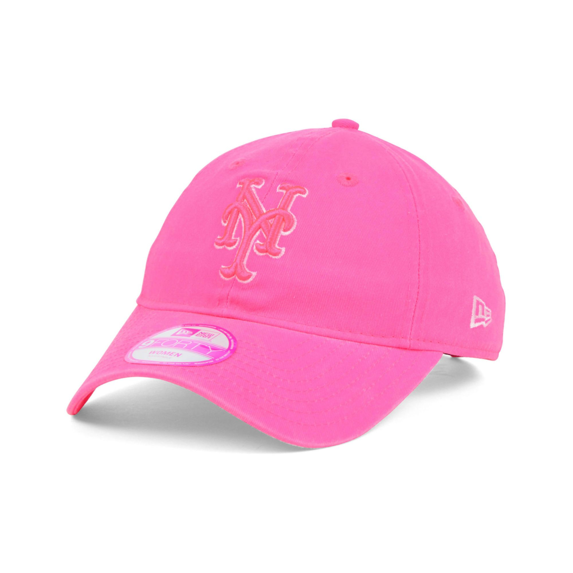 63c24fd23ce sweden lyst ktz womens new york mets fashion essential 9forty cap in pink  7b515 5d466