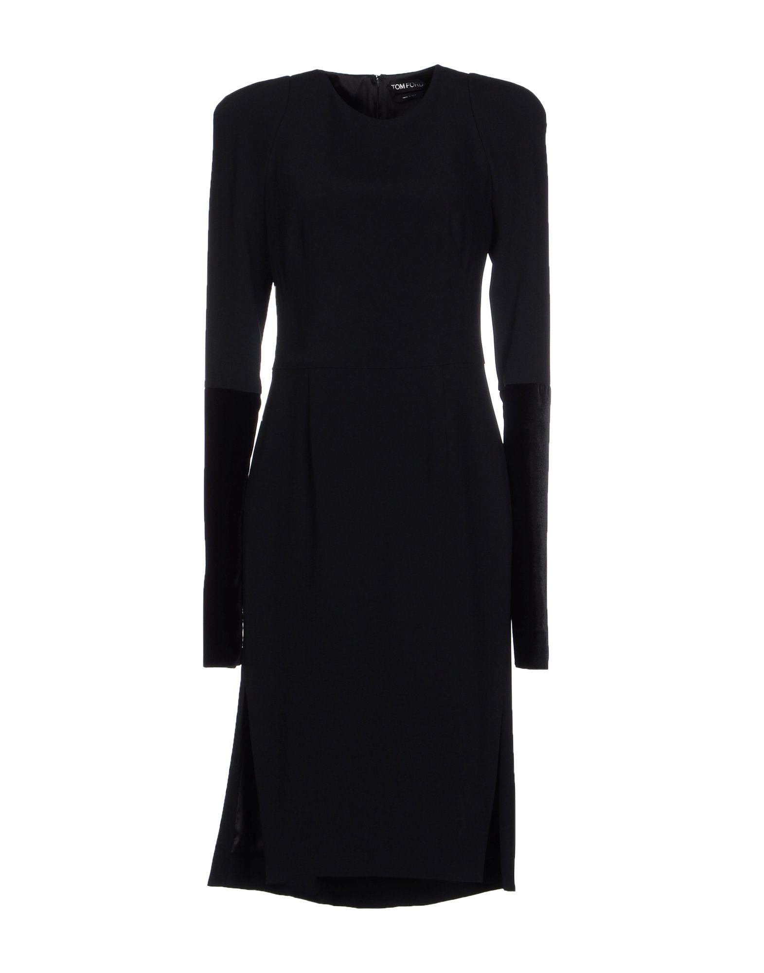 Tom ford knee length dress in black lyst