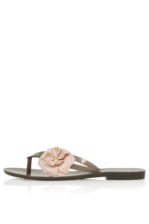 c2f15110916c TOPSHOP Mel Honey Flower Sandals in Gray - Lyst