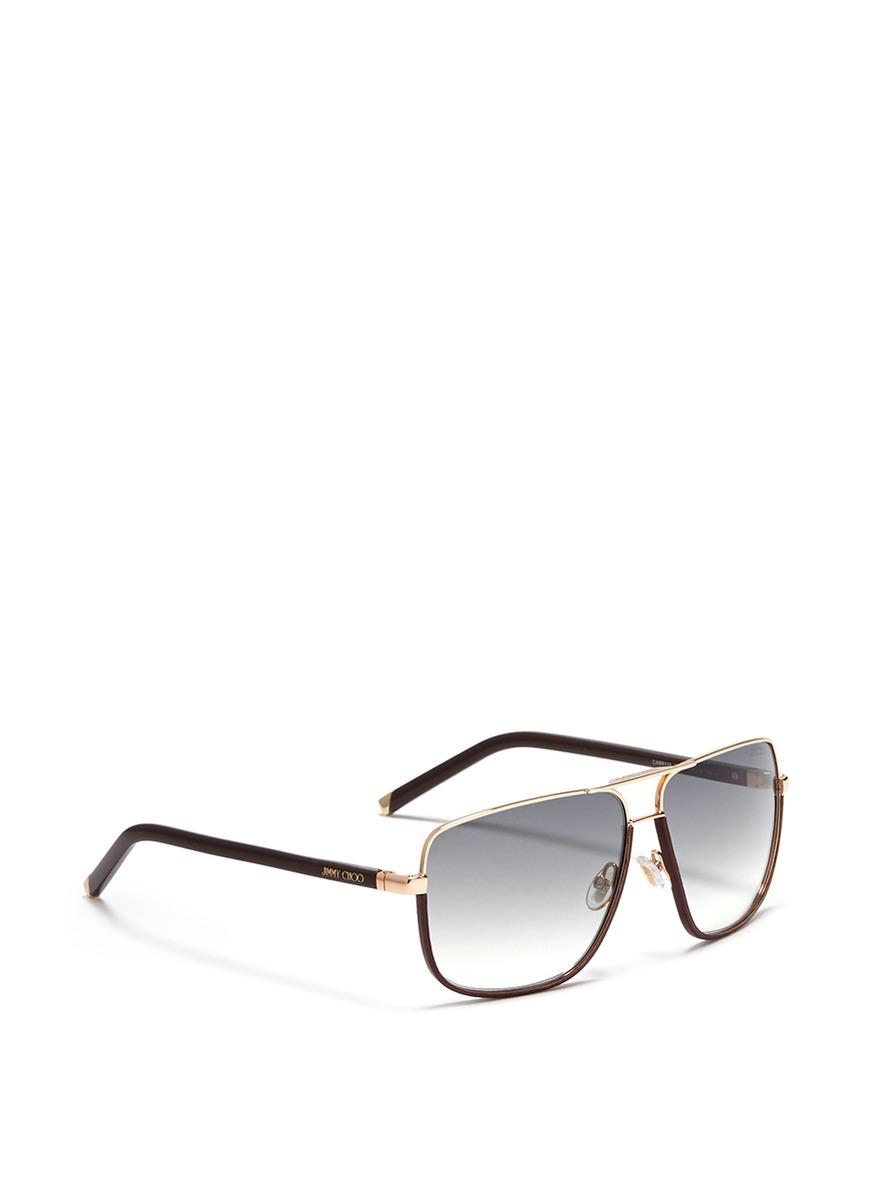 Jimmy choo Chain trimmed sunglasses N1lnXeFTOS