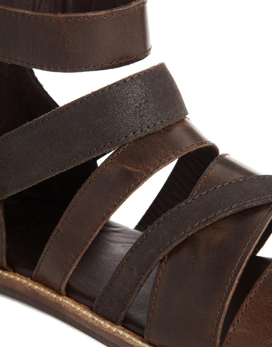 34595955d8b1 Lyst - ASOS Sandals in Leather in Brown for Men