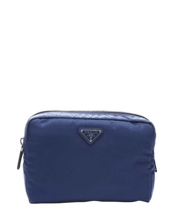 Prada Royal Blue Nylon Zip Top Cosmetic Pouch in Blue | Lyst