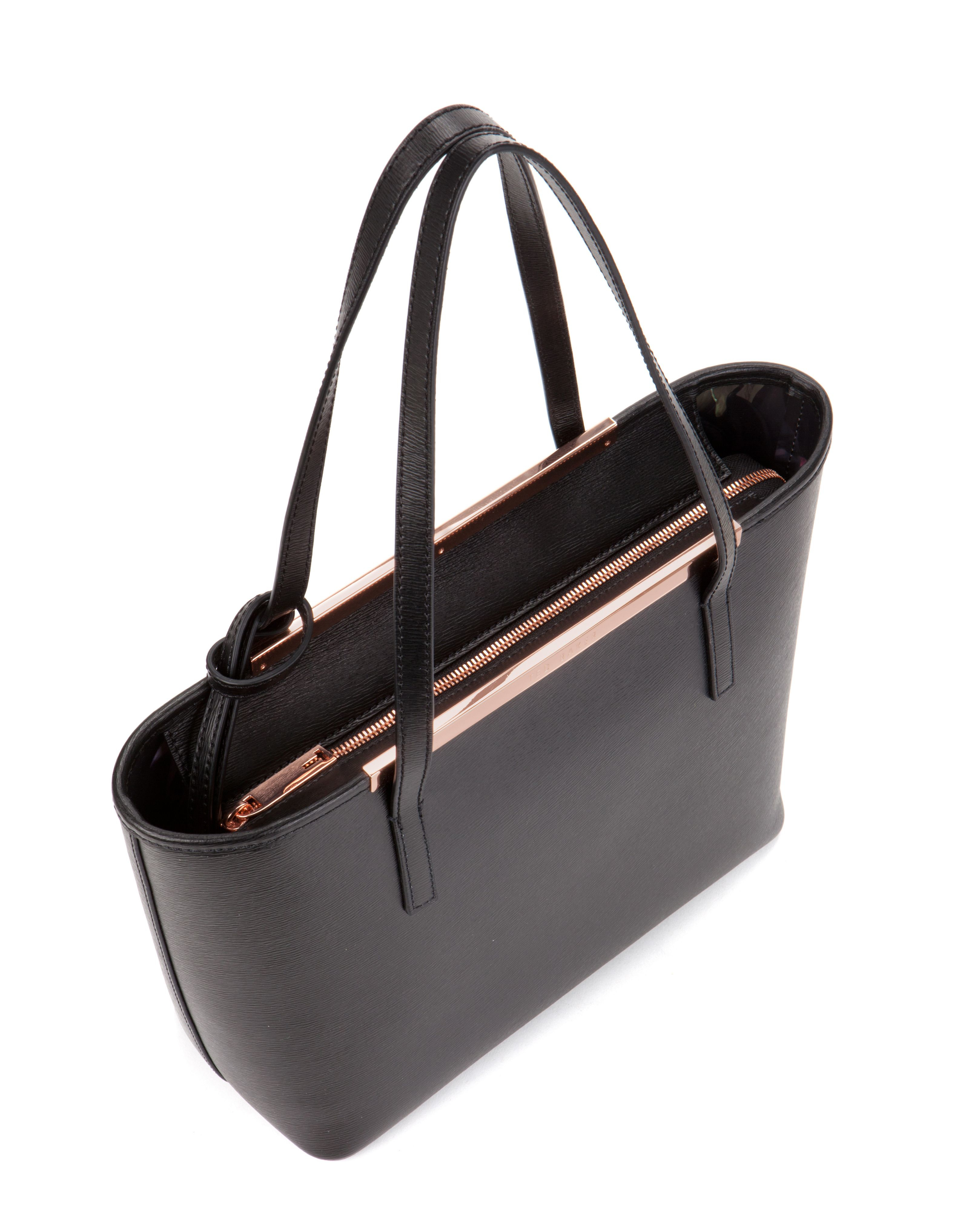 874e2cc48 Ted Baker Black Small Metal Bow Leather Tote Bag - Best Model Bag 2018