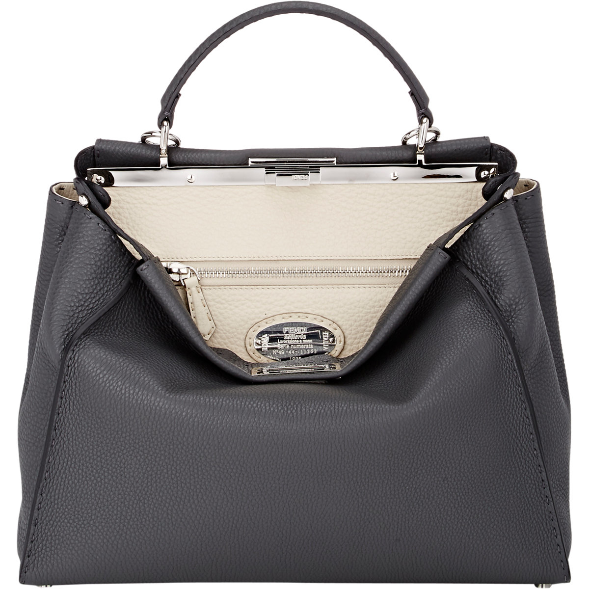 9b6c93a5055e Fendi Selleria Peekaboo Large Satchel in Black - Lyst