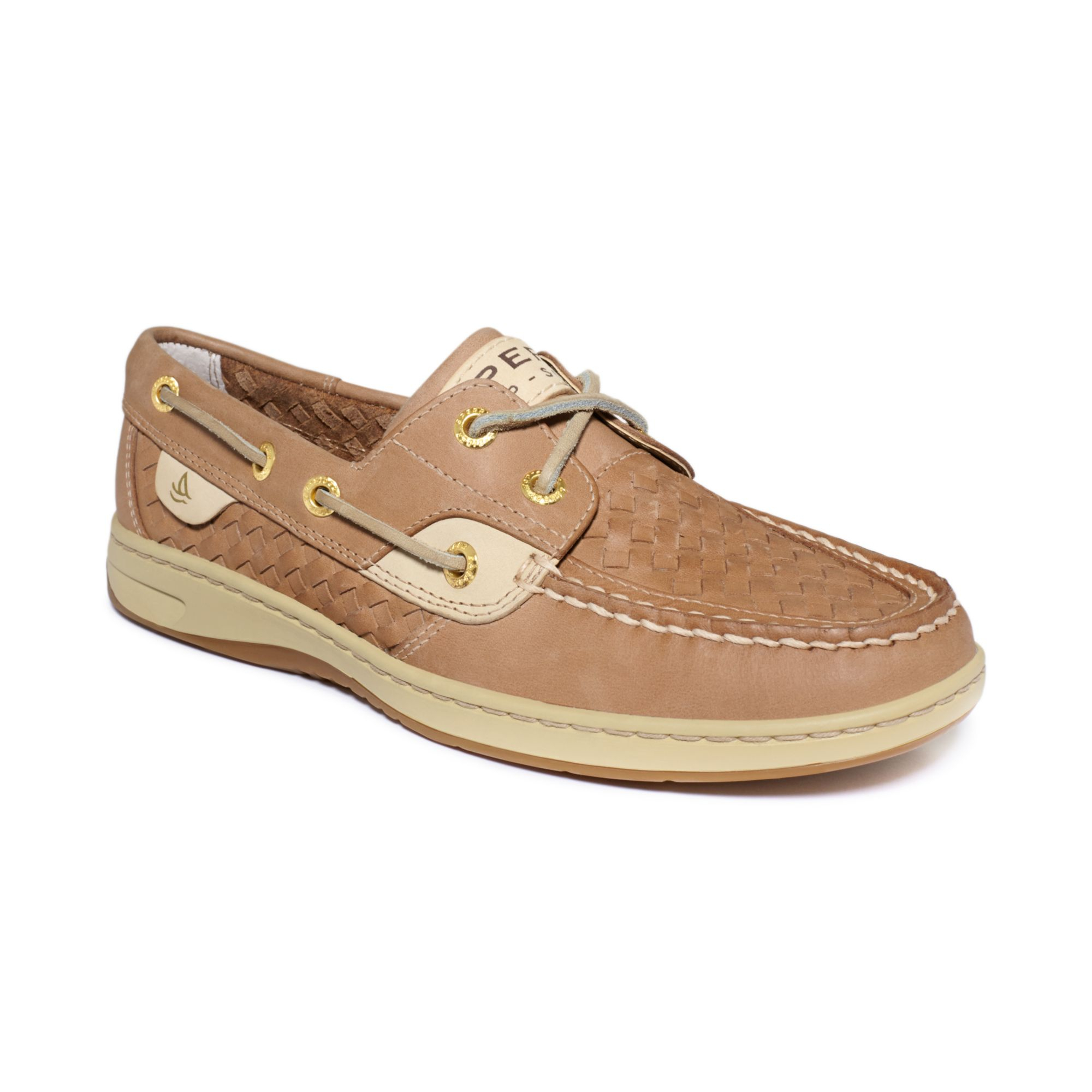 Sperry Top-sider Boat Shoes in Beige for Men (Linen Woven