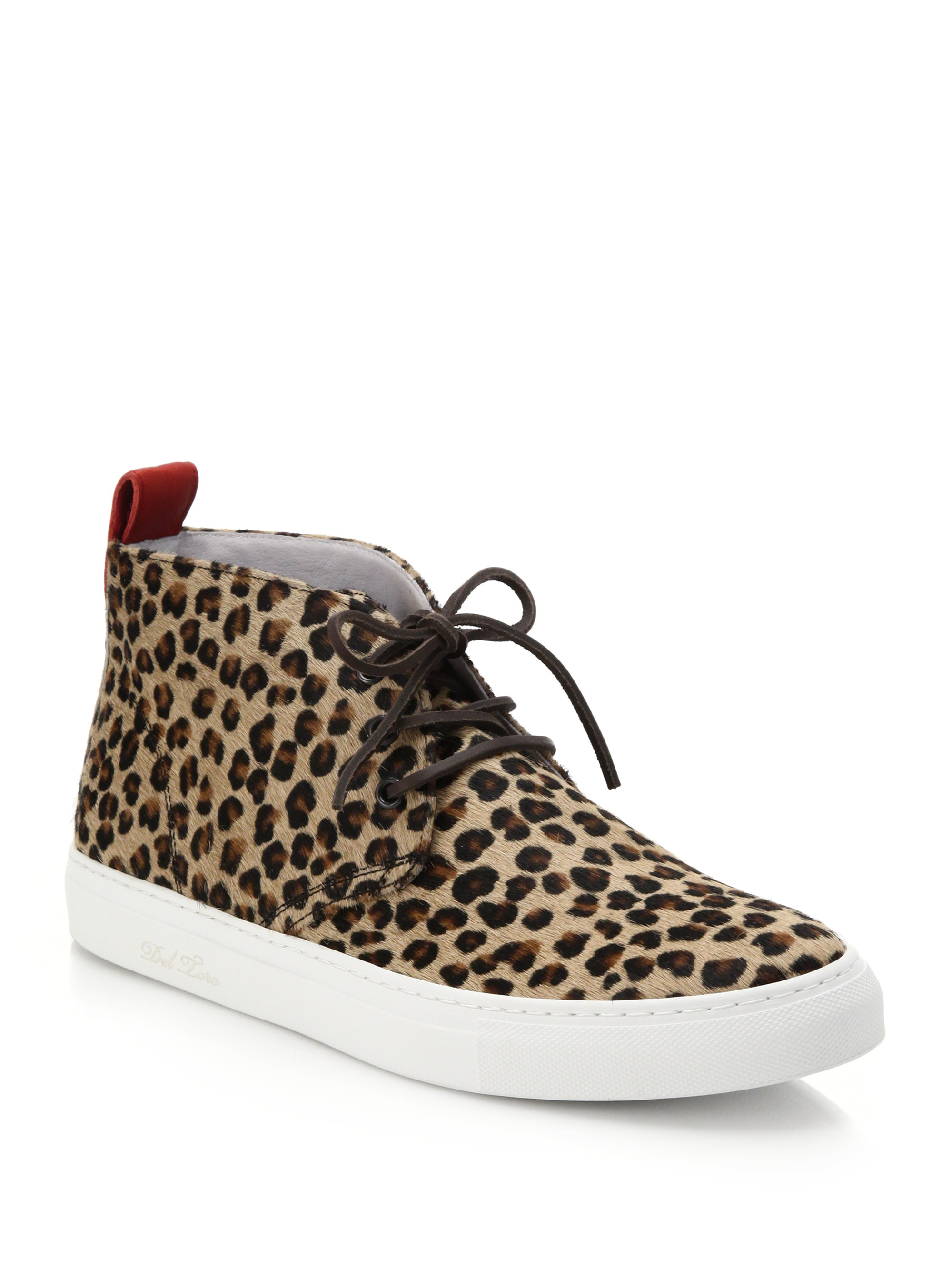 del toro leopard print pony hair chukka sneakers for men lyst. Black Bedroom Furniture Sets. Home Design Ideas