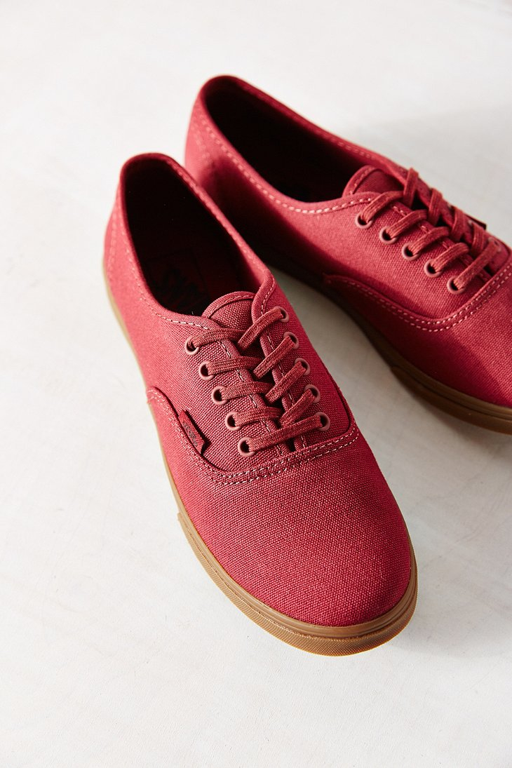 cc9b81ebdcd383 Lyst - Vans Gumsole Authentic Lo Pro Sneaker in Red