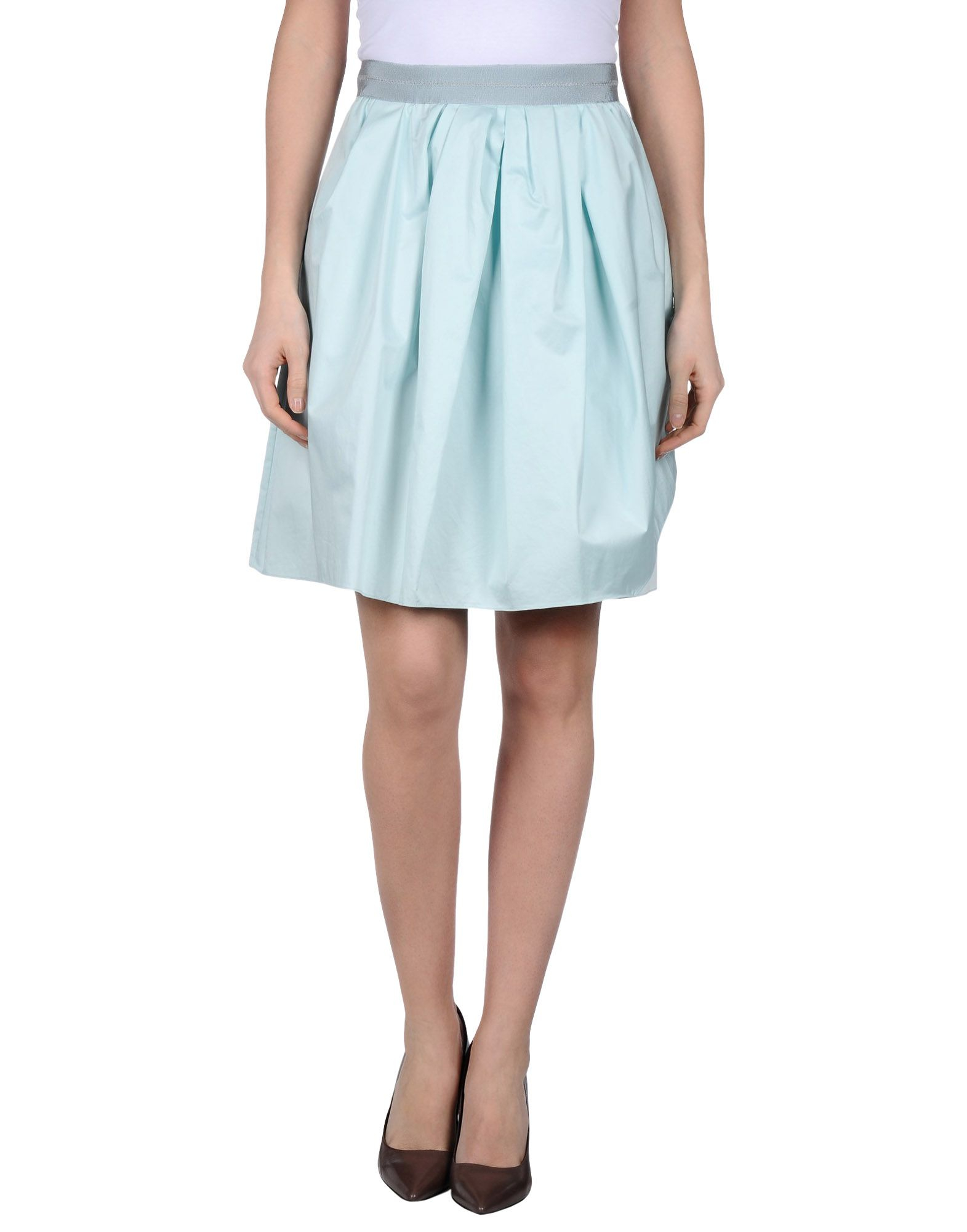 carven knee length skirt in blue sky blue save 55 lyst