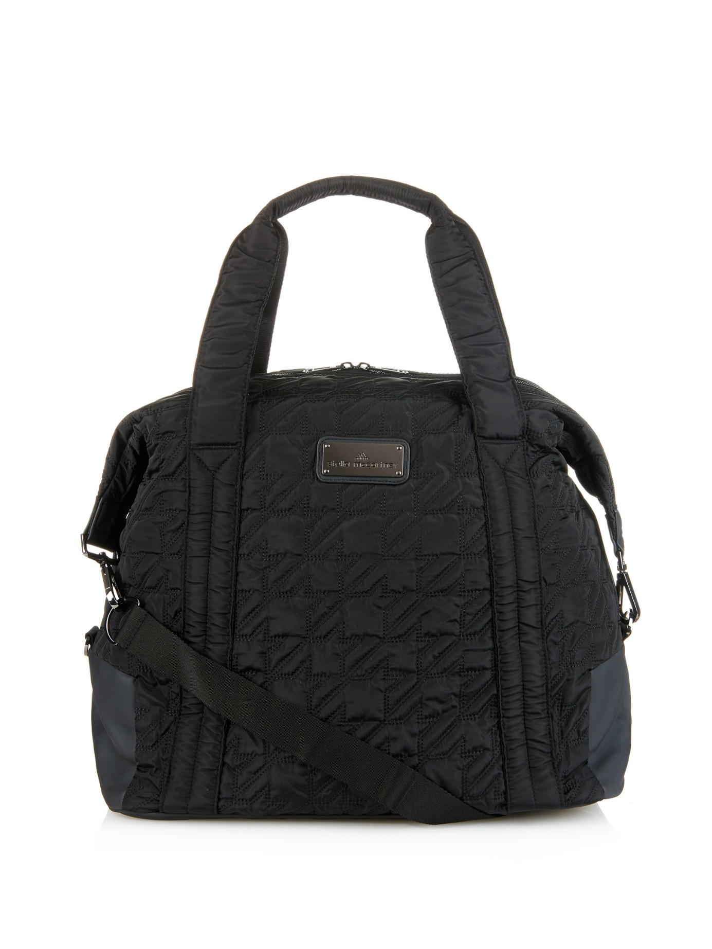 adidas by stella mccartney big quilted nylon gym bag in. Black Bedroom Furniture Sets. Home Design Ideas