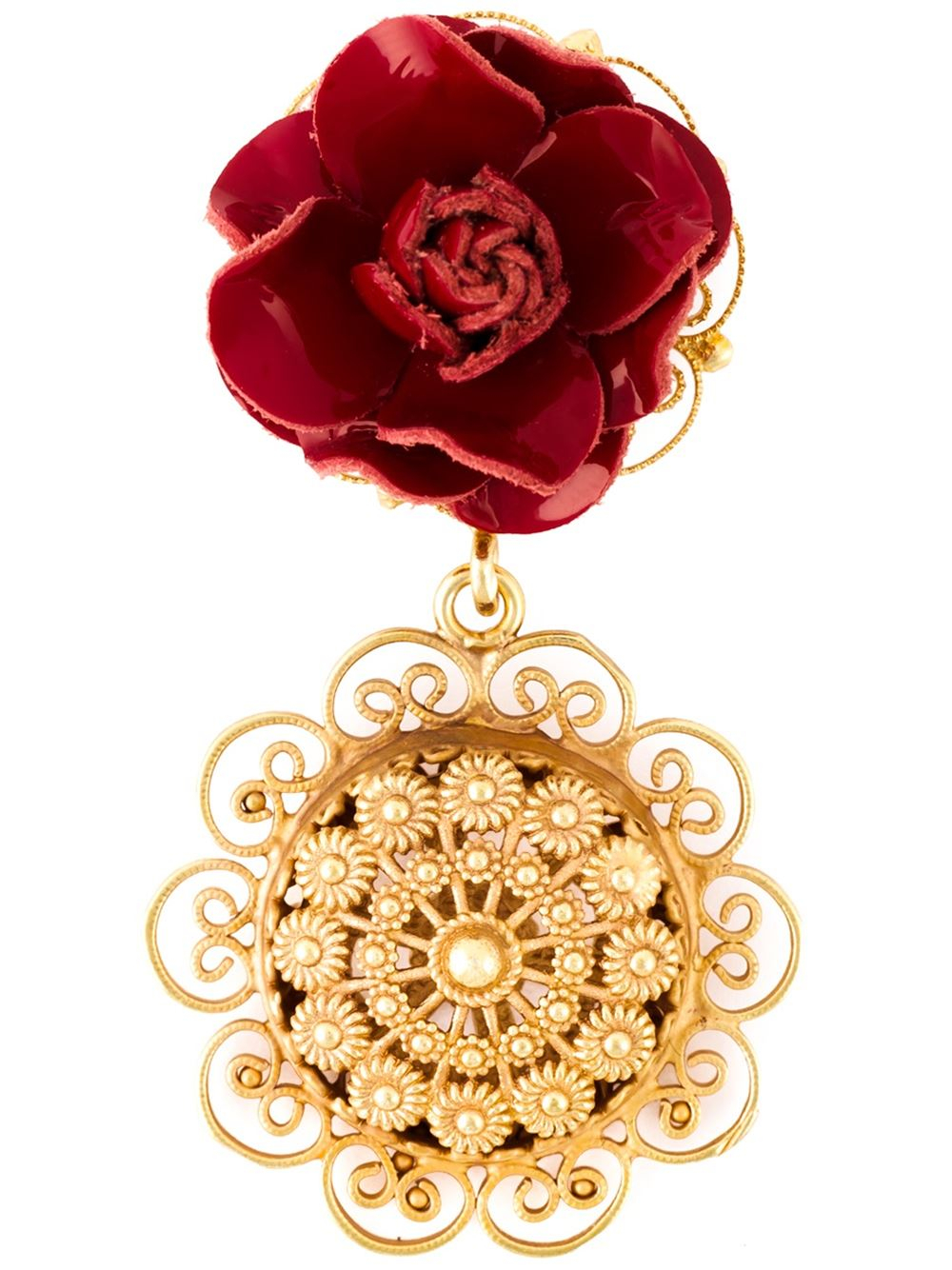 Dolce Amp Gabbana Sacred Heart Clip On Earrings In