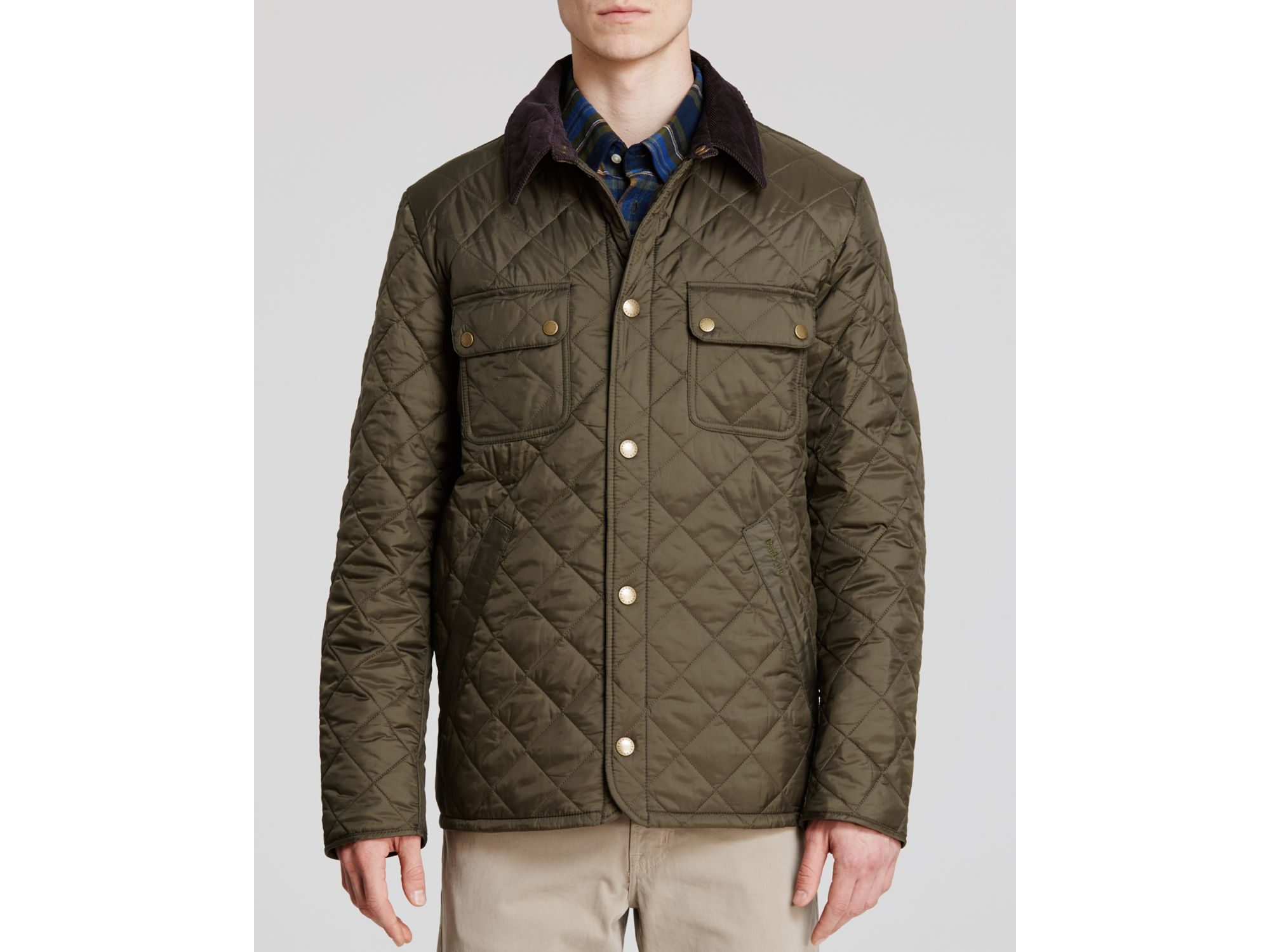 Barbour Tinford Quilted Jacket in Green for Men | Lyst