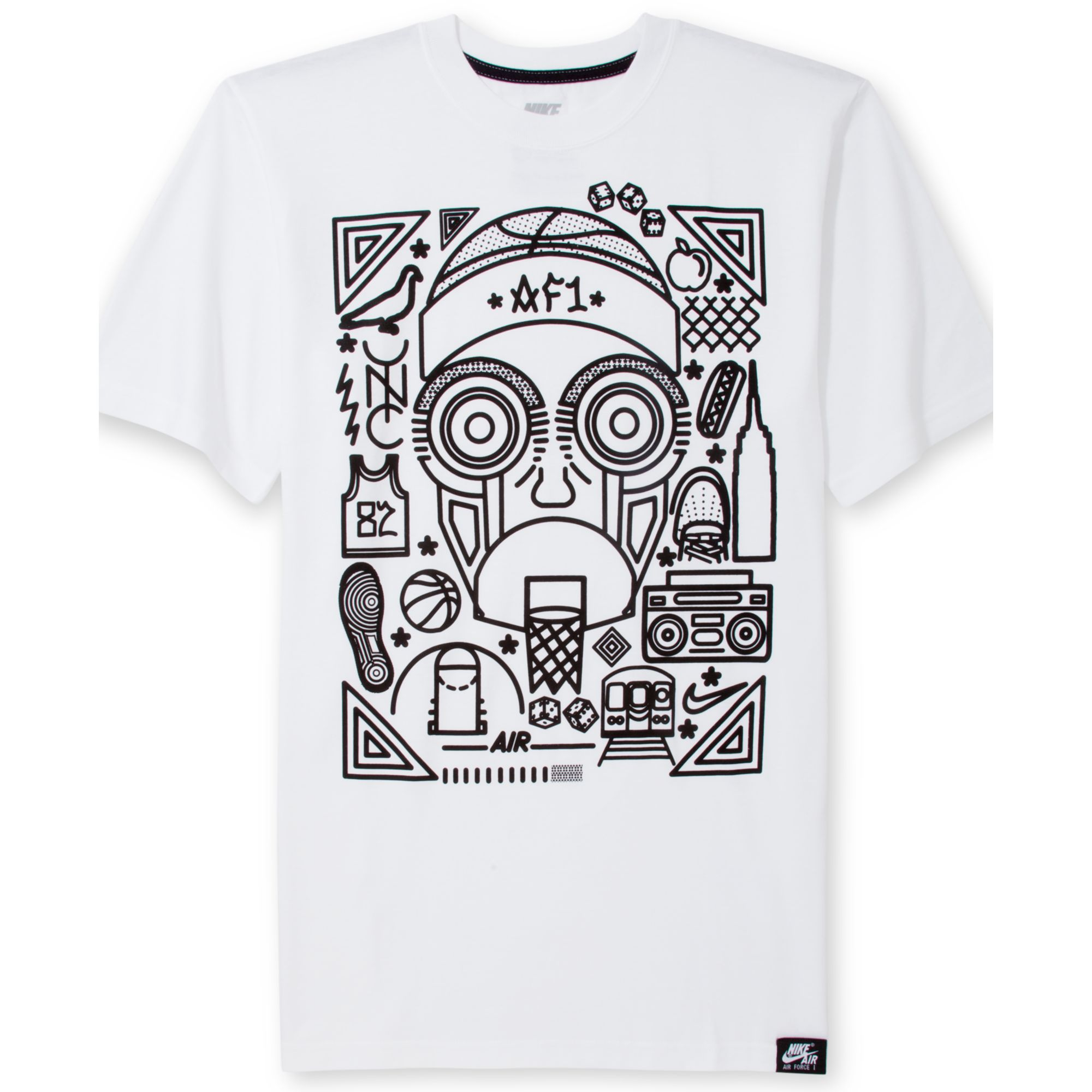 5247e2508e748c Lyst - Nike Air Force 1 Graphic Tshirt in White for Men