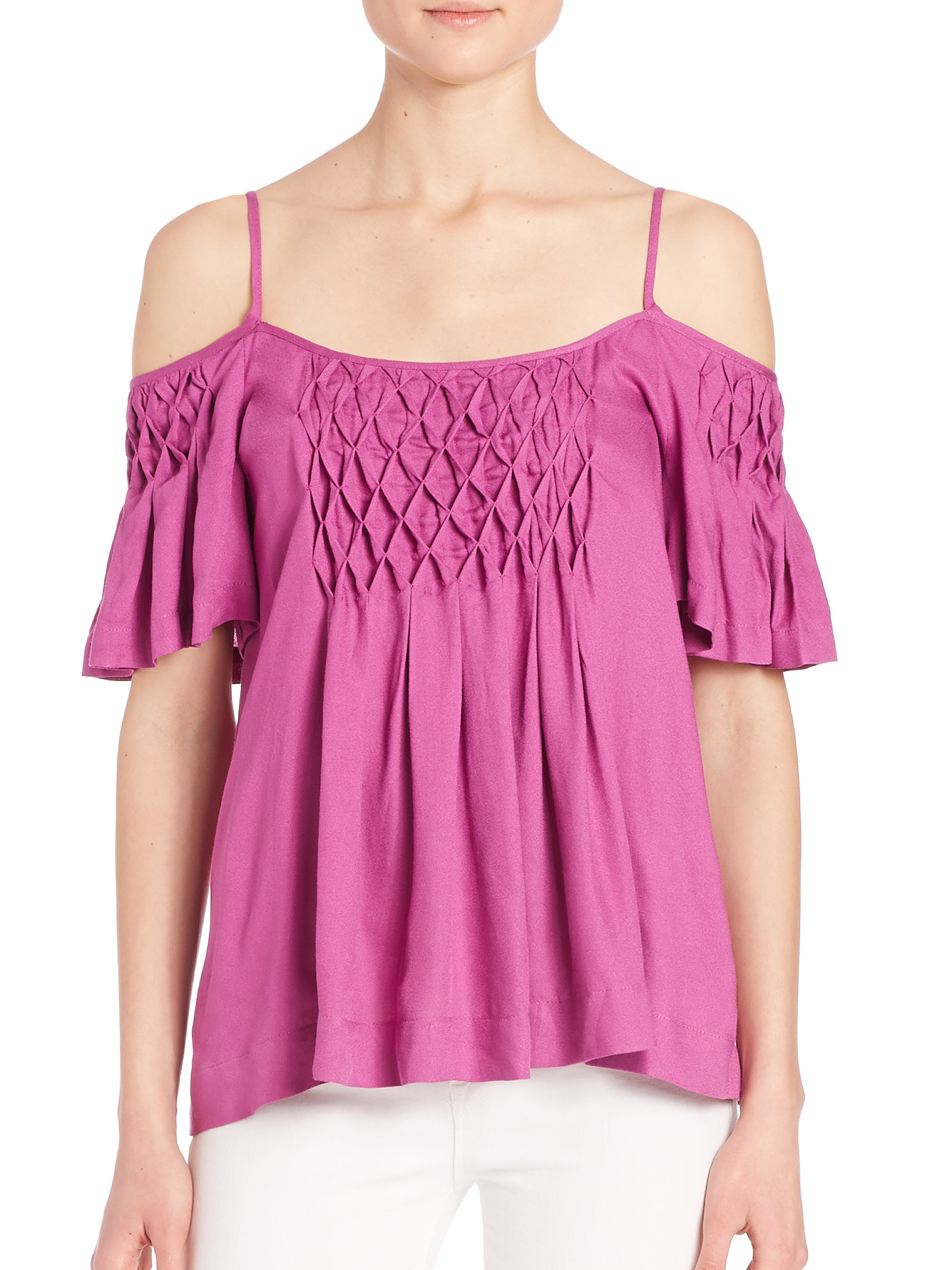 e50f404d58b616 Lyst - Ella Moss Stella Cold-shoulder Tee in Purple