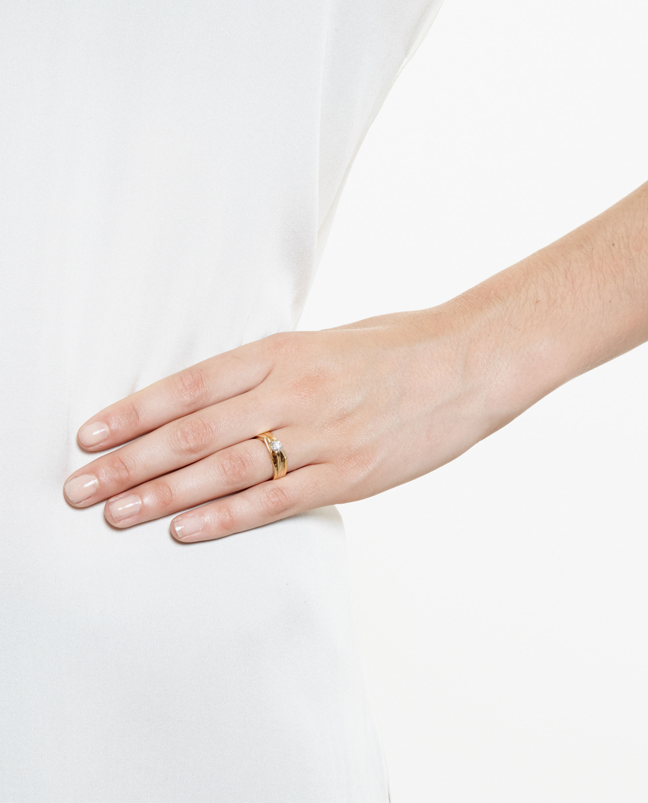 Repossi Antifer Two-Row Ring with Diamonds in 18K Gold XjLvIS