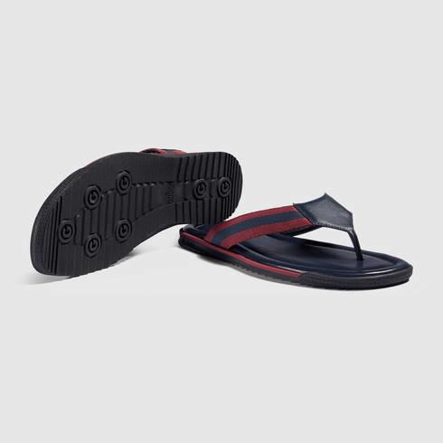 4e80564112fdbc Lyst - Gucci Web Strap Thong Sandal for Men