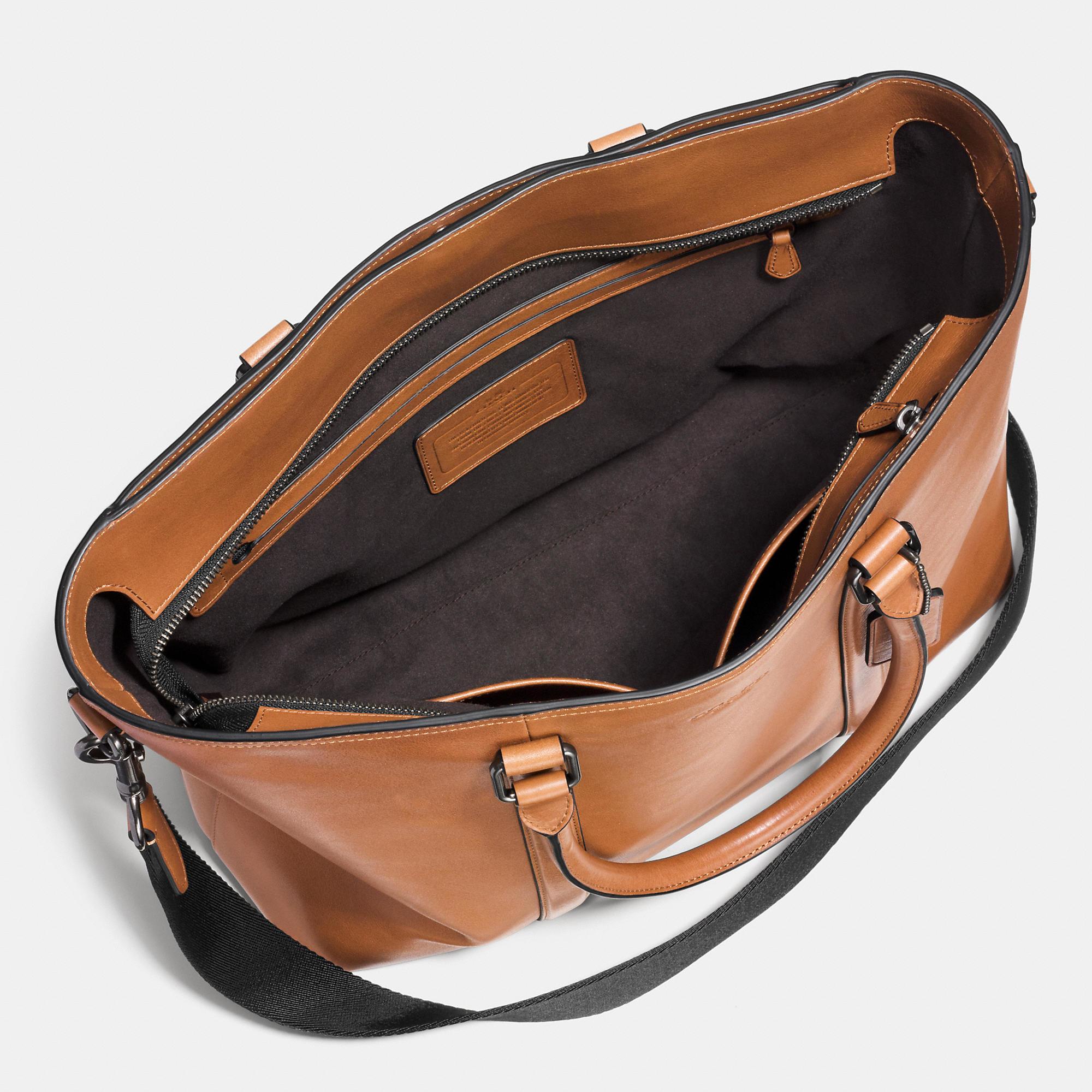 6af40c412 COACH Metropolitan Tote In Sport Calf Leather in Brown for Men - Lyst