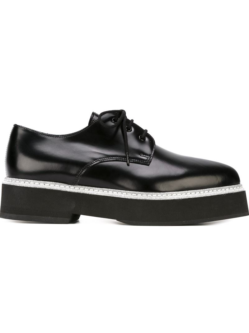 mcqueen platform lace up shoes in black lyst