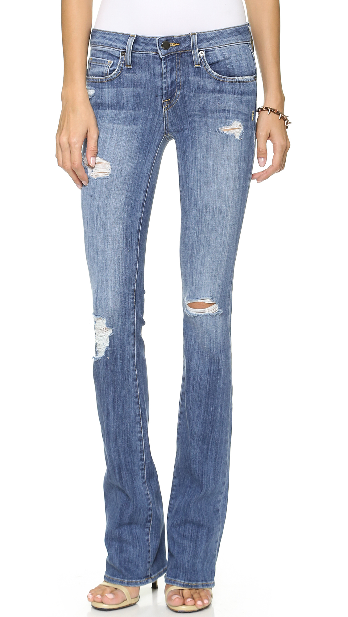 2f3bad571b8c Lyst - Genetic Denim Riley Slim Boot Cut Jeans - Summer Destroy in Blue