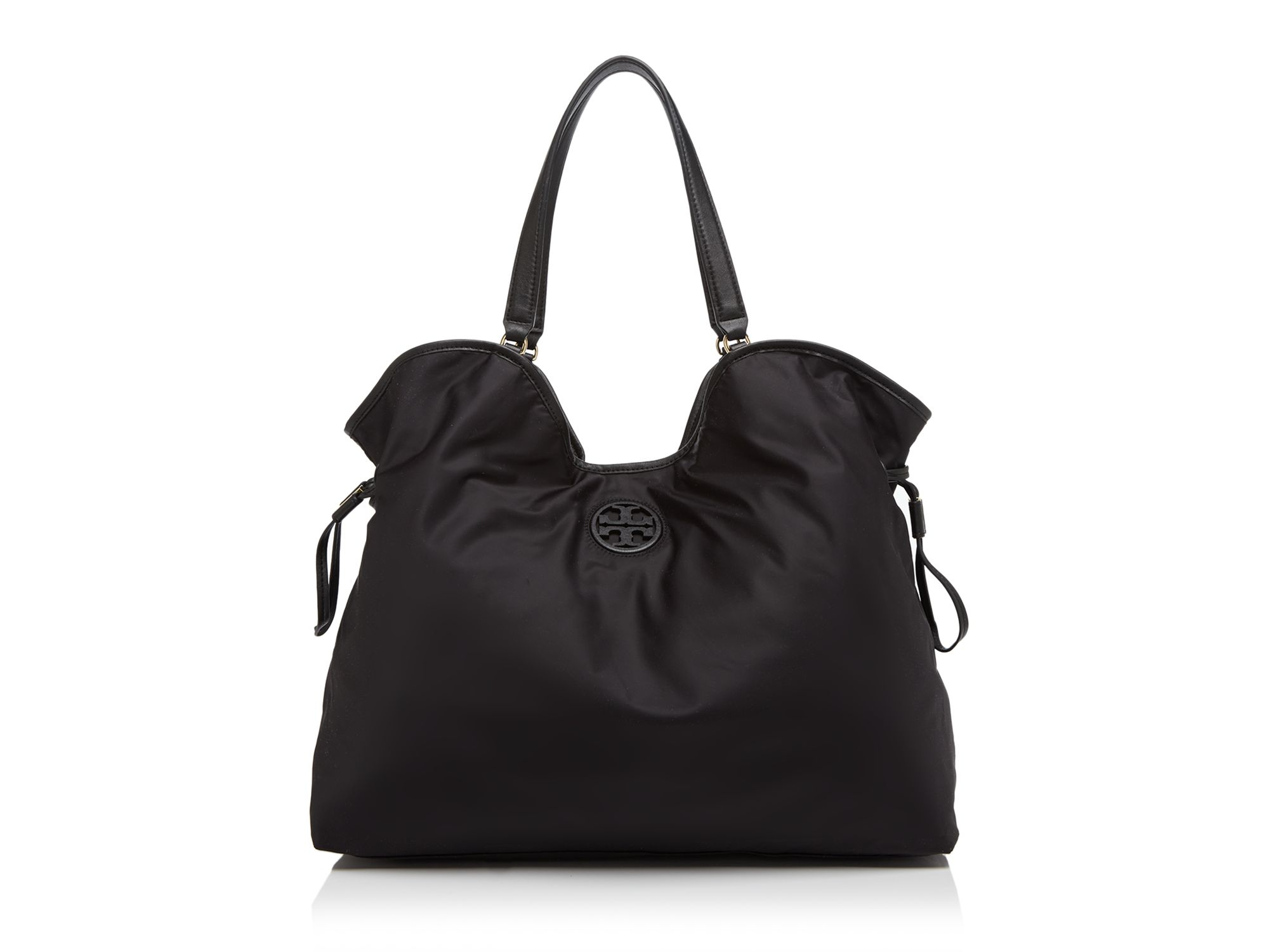 0f4006f61a89 Lyst - Tory Burch Nylon Slouchy Tote in Black