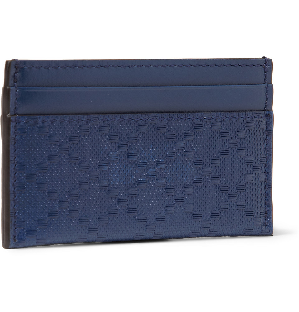Gucci embossed leather cardholder in blue for men lyst gallery magicingreecefo Images