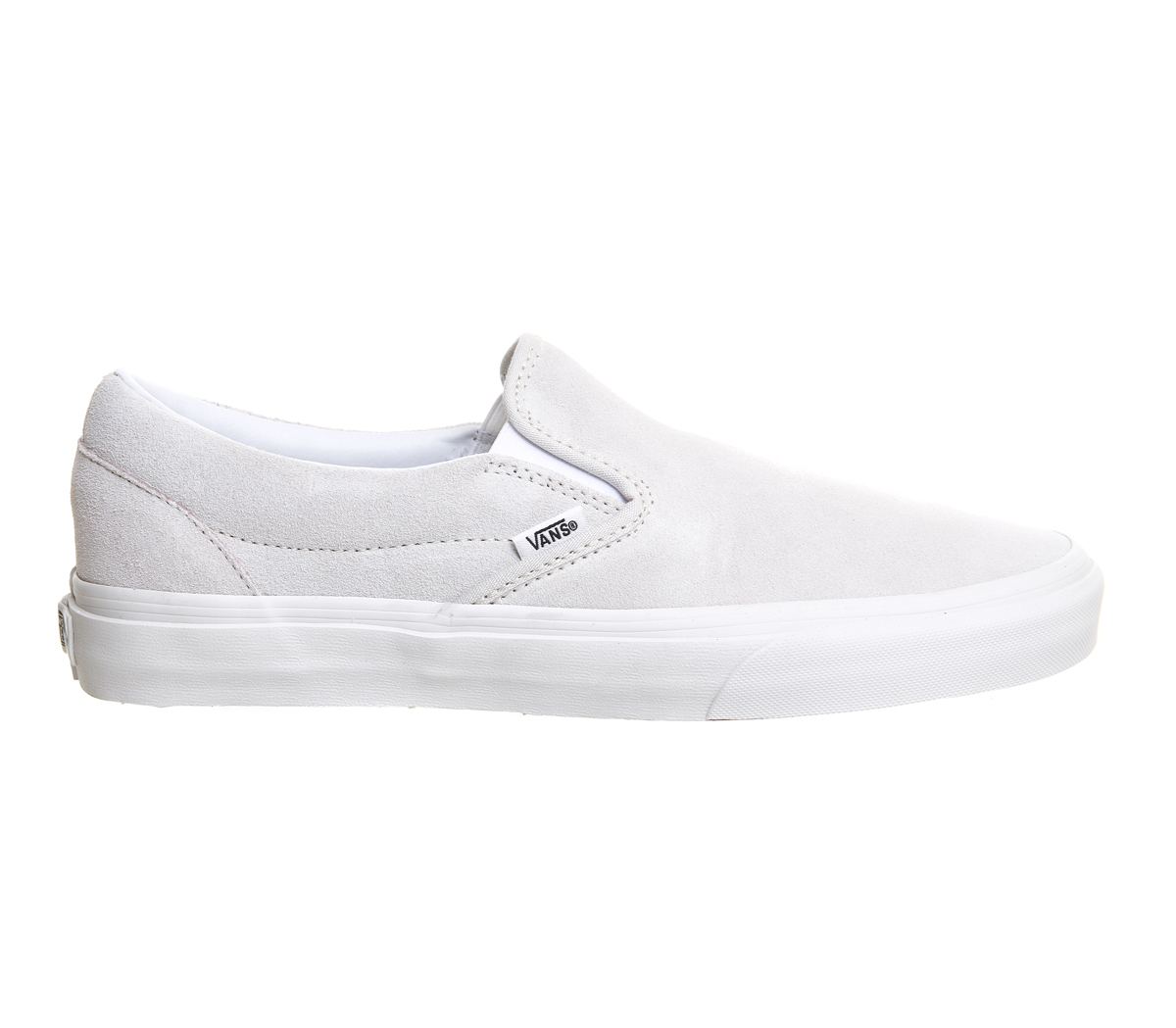 vans classic slip on shoes in white lyst