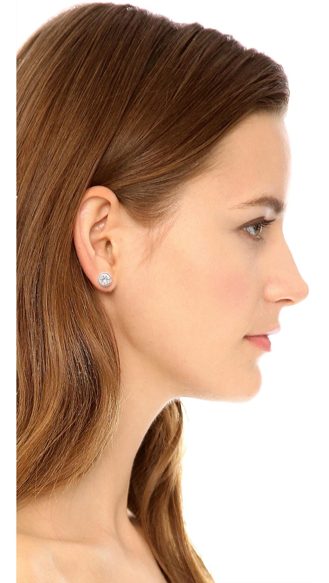 Michael Kors Park Avenue Cut Stud Earrings Rose Gold