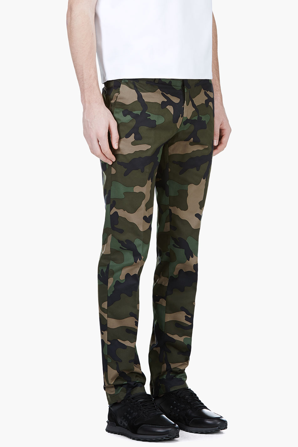 camouflage cargo trousers - Green Valentino 6L30t