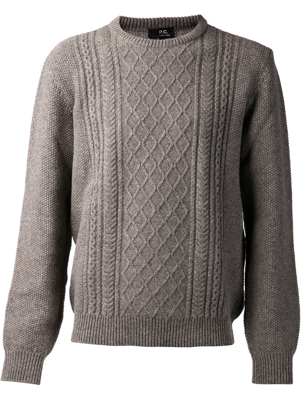 Grey Cable Knit Sweater Mens - English Sweater Vest