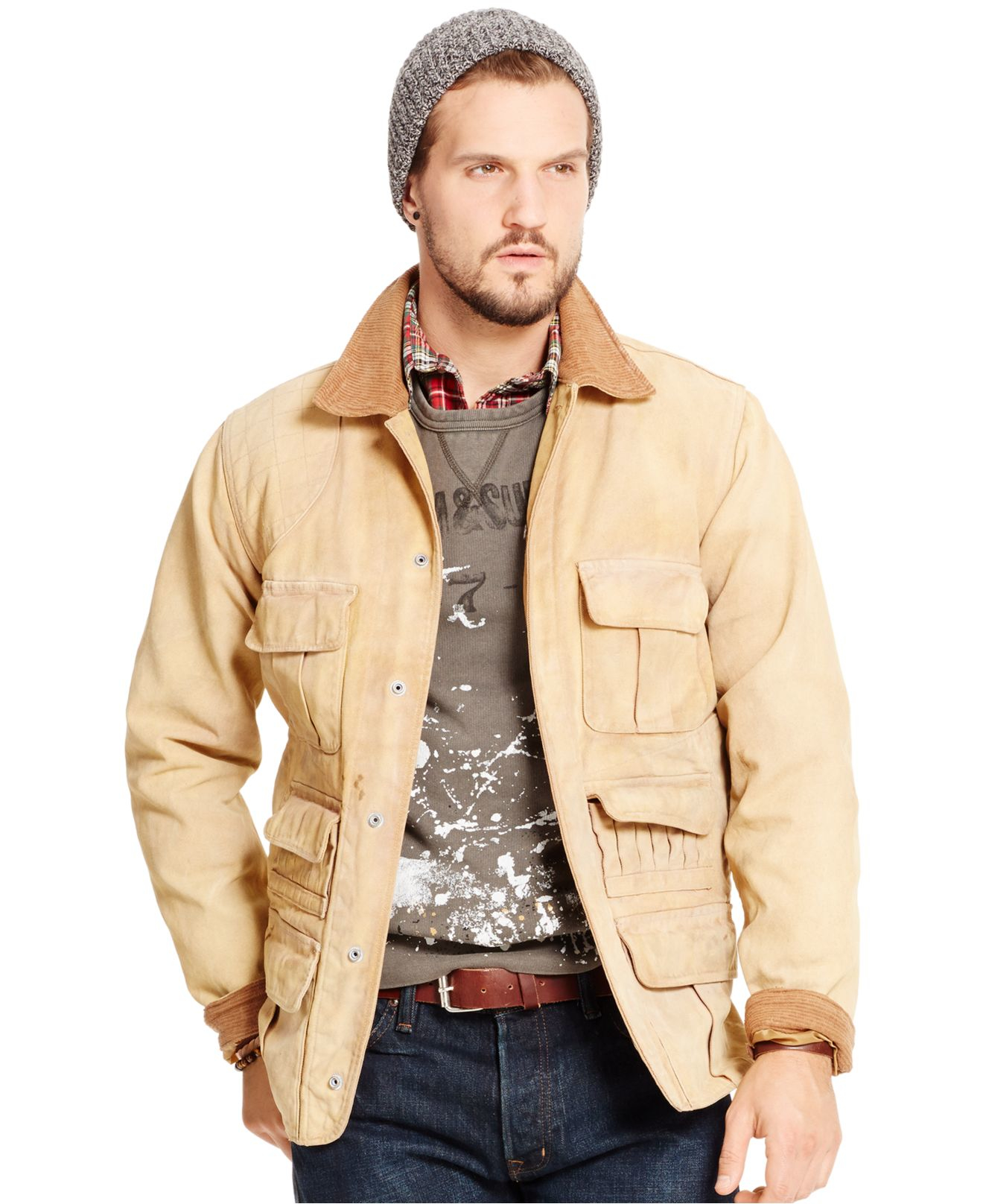 Denim u0026 supply ralph lauren Canvas Hunting Jacket in Natural for Men | Lyst