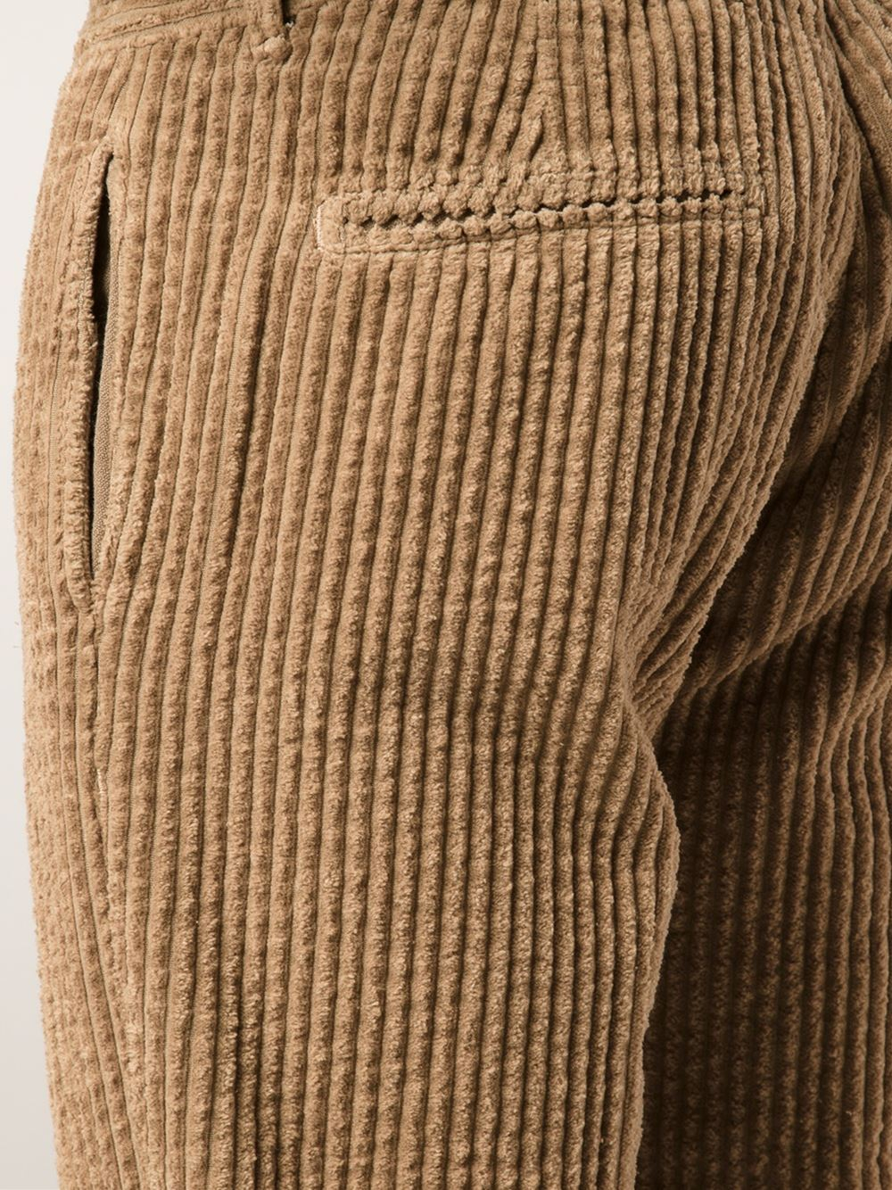 Massimo alba 'Winch Wide Corduroy' Trousers in Natural for Men | Lyst