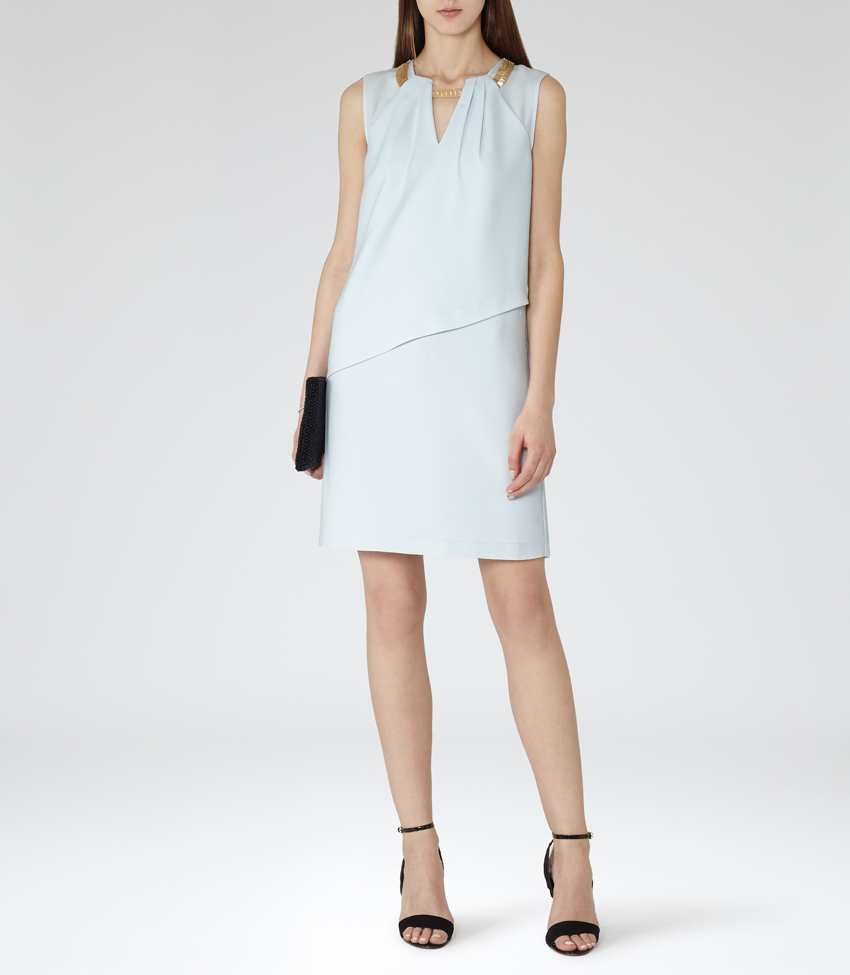 Reiss dress white and gold