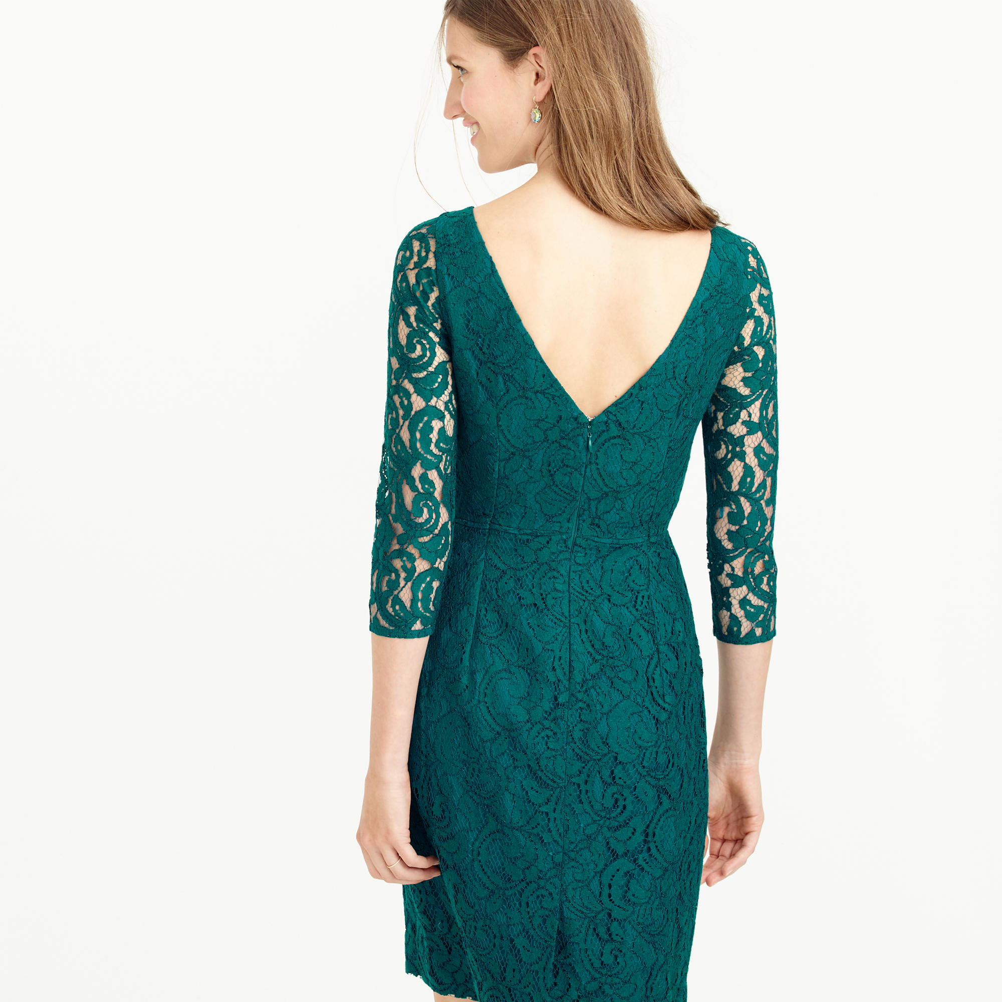 Lyst - J.Crew Petite Natalia Dress In Leavers Lace in Green