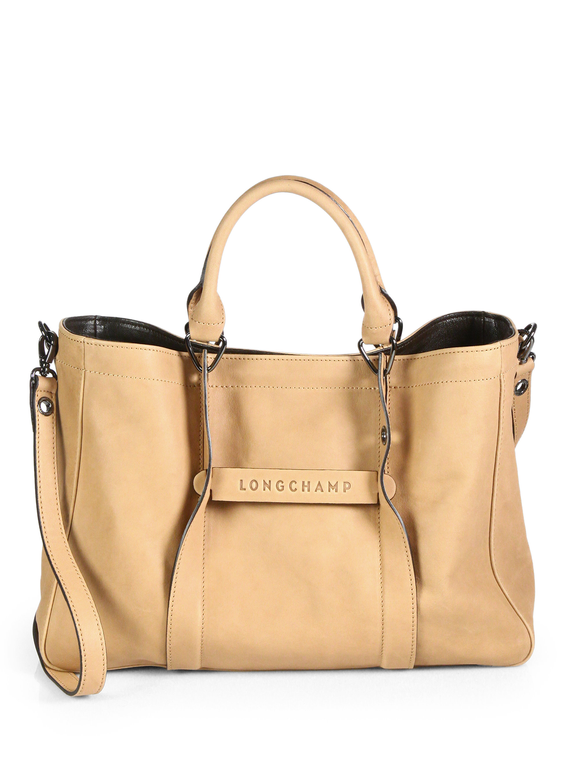 Lyst Longchamp 3d Medium Leather Tote In Brown