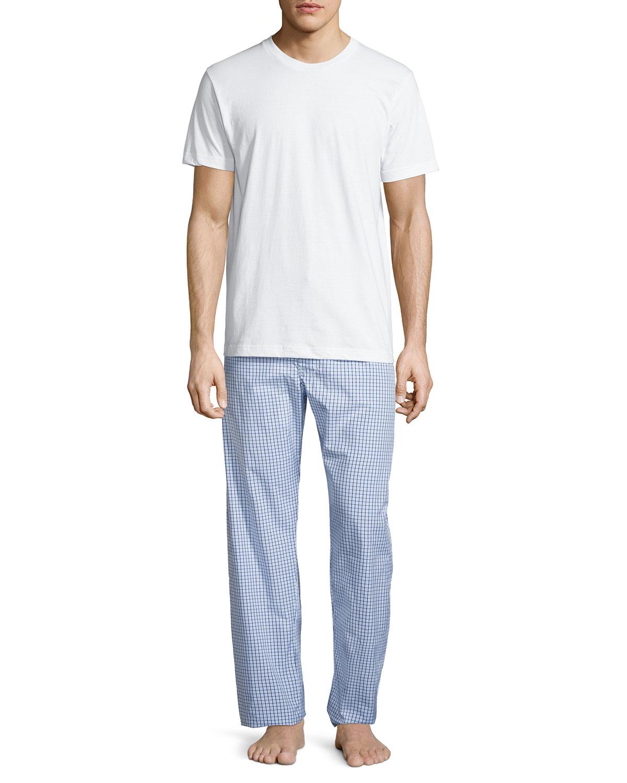 neiman s two boxed pajama set w flannel