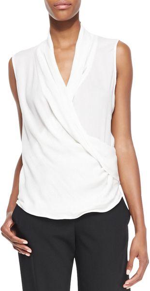 Shawl Collar Blouse White 87